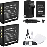 KLIC-7004 Battery 2-Pack Bundle with Rapid Travel Charger and UltraPro Accessory Kit for Select Kodak Cameras Including PlaySport, PlayTouch, and PlaySport Zx3