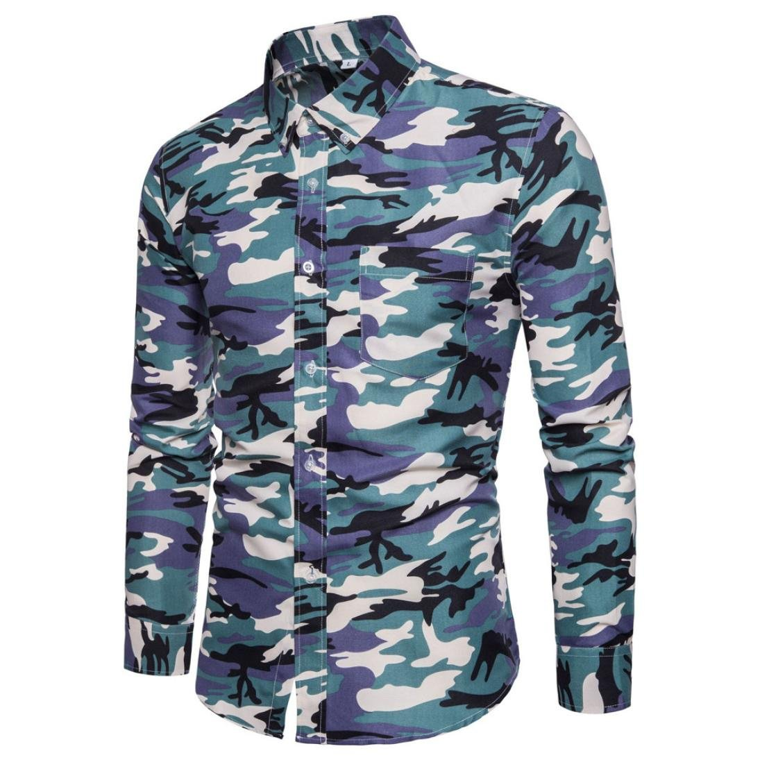 4aaad64b KPILP Men's Casual Camouflage Printing Pullover Long Sleeve T-Shirt Top:  Amazon.co.uk: Clothing