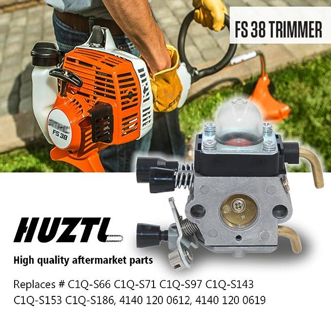 HUZTL C1Q-S97 Carburetor for STIHL FS38 FS45 FS46 FS55 KM55 HL45 FS45L  FS45C FS46C FS55C FS55R FS55RC FS85 FS80R FS85R FS85T FS85RX String Trimmer