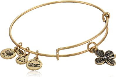 Authentic Alex And Ani Lucky Clover A09eb143rg Gold Tone