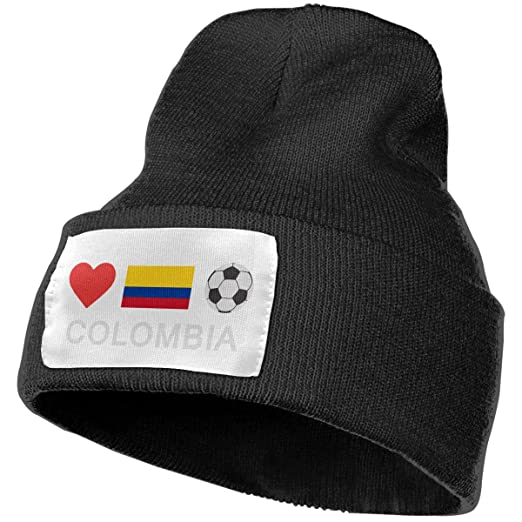 8284995bdcfb4d Unisex Colombia Football Colombia Soccer Beanie Hats - 100% Acrylic Winter  Warm Skull Knit Cap