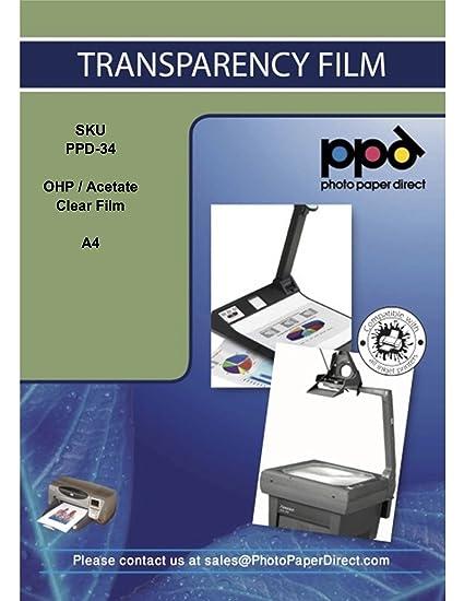 PPD Inkjet PPD-34-100 - Lámina transparente de acetato de secado ...