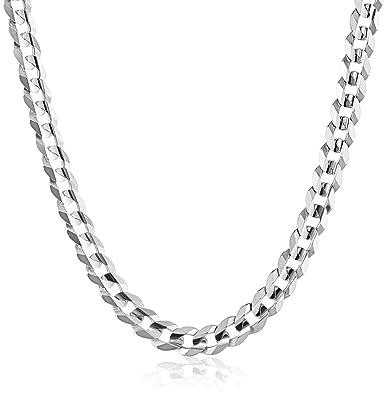 e71833bbda1b Men s 14k White Gold 8.3mm Cuban Chain Necklace