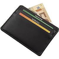 Extra Flaches und Kleines Kreditkartenetui Scheckkartenetui Kartenetui Visitenkartenetui Portemonnaie Schwarz