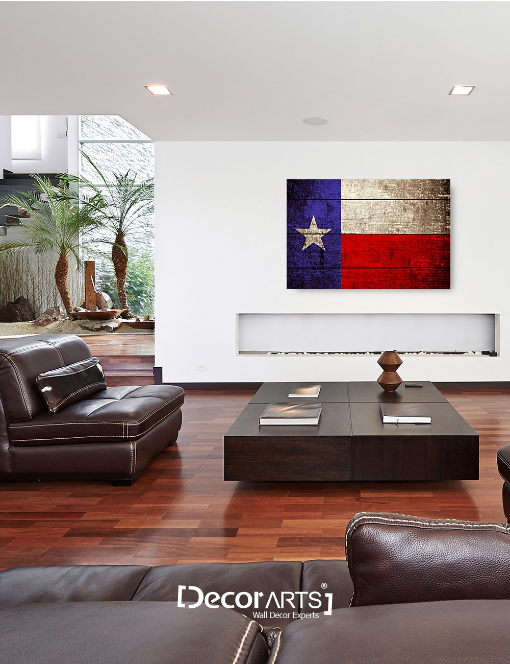 DECORARTS – Texas State Flag. Giclee Print on 100 Archival Cotton Canvas, Canvas Wall Art for Wall Decor 36x24x1.5