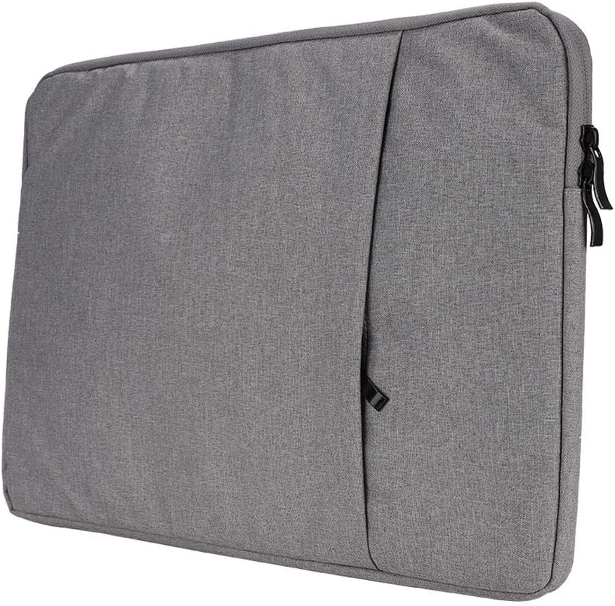 14 Inches Portable Ultra-Thin Nylon Laptop Bag,Suede 2-Layer Business Computer Protective Bag,with Large Capacity 2 Layers Design Light Grey ASHATA Computer Bag