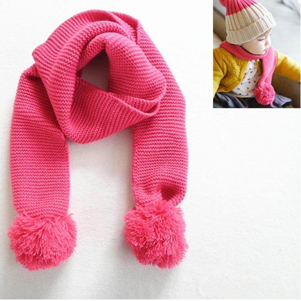 FEITONG Otoño Invierno Niños niñas Collar del bebé Bufanda de algodón  Cuello Redondo Bufandas WY45 56d9d3e01ab
