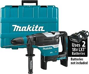 "Makita XRH07ZKU 18V x2 LXT Lithium-Ion (36V) Brushless Cordless 1-9/16"" Advanced AVT Rotary Hammer, Accepts Sds-Max Bits, Aws, Tool Only"