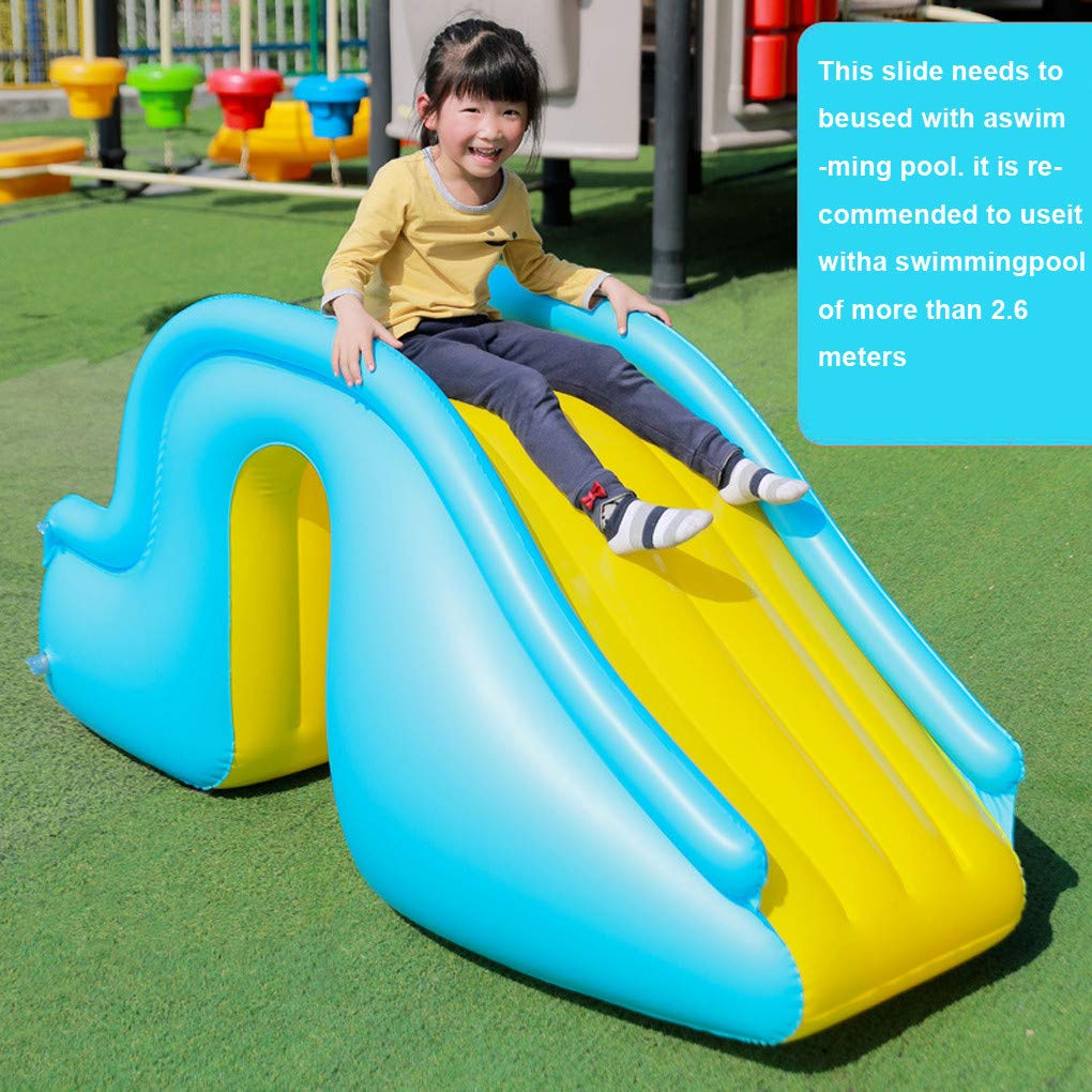 Sacow/_ Inflatable Water Slides w//Air Pump for 40~60 cm Swimming Pool Backyard Summer Water Party Water Slides for Kids