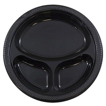 amazon com jam paper plastic 3 compartment divided plates large