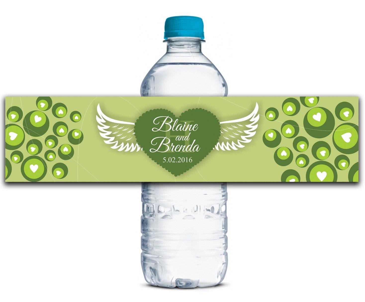 Personalisierte Wasserflasche Etiketten Selbstklebende wasserdichte Kundenspezifische Hochzeits-Aufkleber 8  x 2  Zoll - 70 Etiketten B01A0W2XCA | Online Outlet Shop