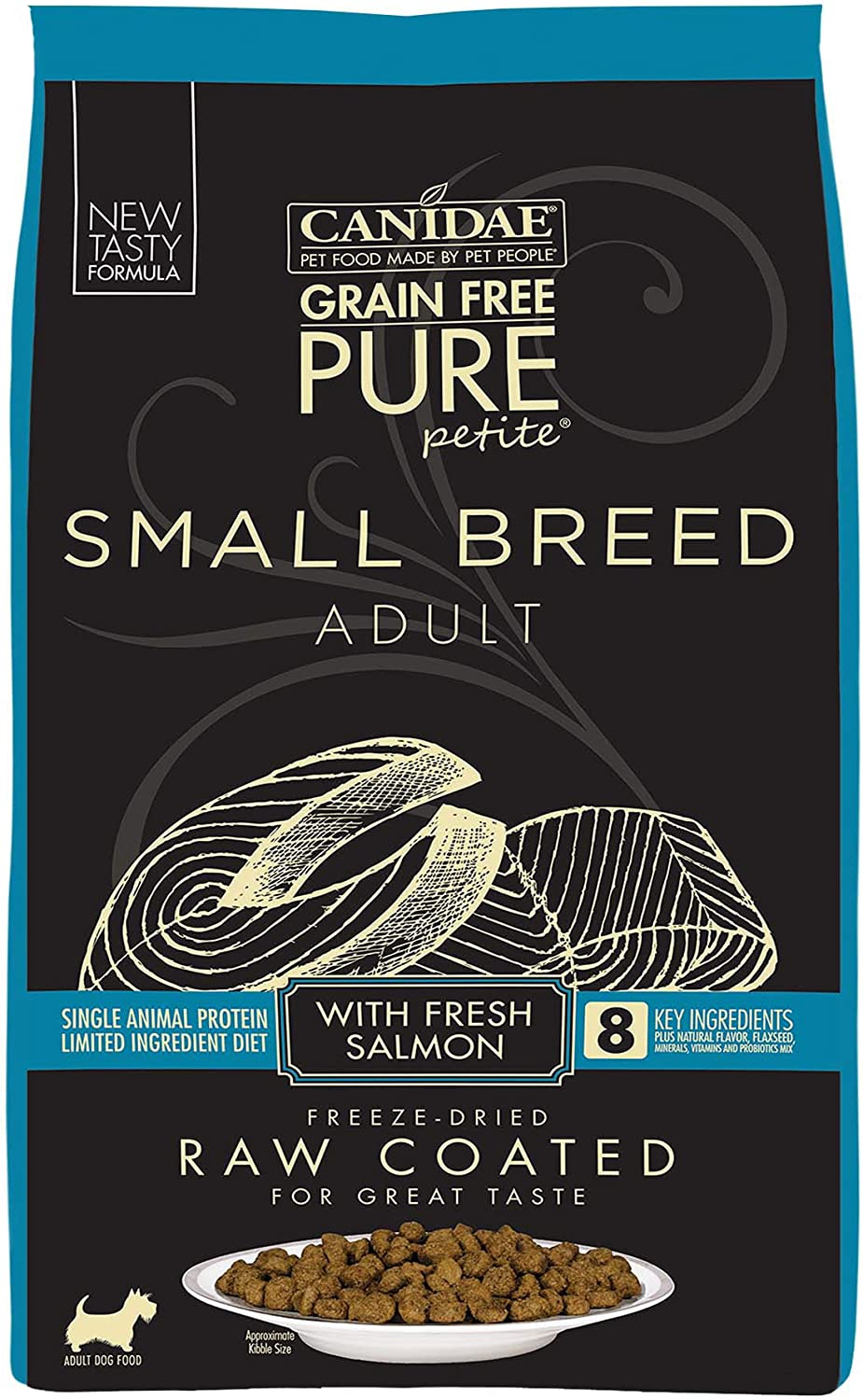 CANIDAE Grain Free Pure Petite Small Breed Raw Coated Dry Dog Food