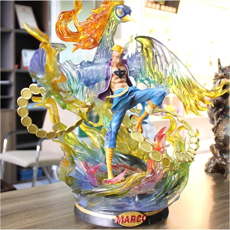 VBCGGGG Una Pieza: Marco (The Phoenix) Figura de acción Anime Regalo Decoraciones de Juguete de una Pieza Galería Doll Adornos Action Figures