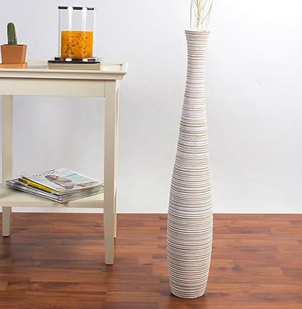 Amazon Leewadee Tall Floor Vase 30 Inches Wood White Musical