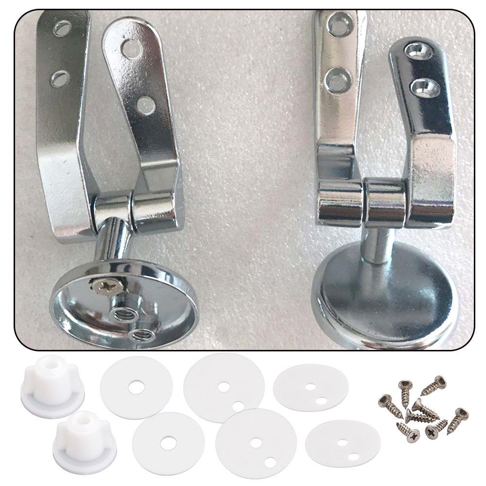 AllRight 38 PCS Charniere Abattant Fixations Remplacement WC Clé de Suppression Stéréo Couvercle de Toilettes avec Vis en Acier Inoxydable