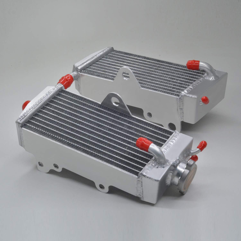 aluminum radiator /& hose red for HONDA CR125R//CR125 1990-1997 1991 1992 1993 1994 1995 1996 with stopper side+caplesss side +hose red