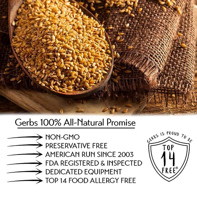 Gérmenes de semillas de lino sin alergia alimentaria. Sin ...