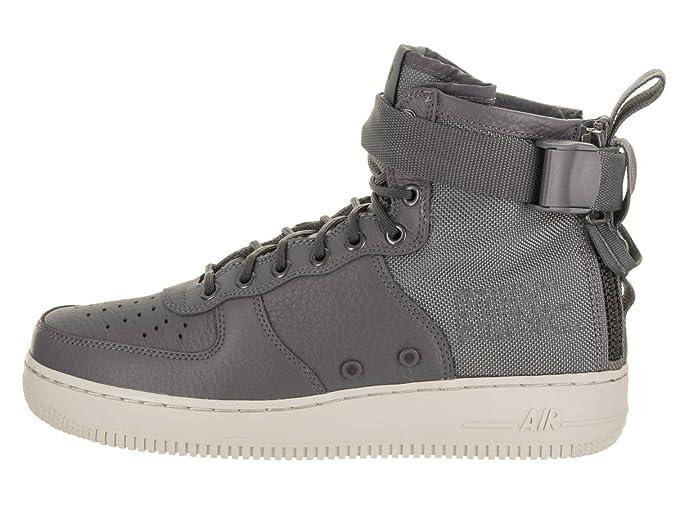 NIKE Men s SF AF1 Mid Dark Grey/Dark Grey Light Bone Basketball Shoe 9 Men US