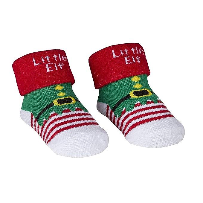 Christmas Xmas North Pole Cute Baby Socks Red White Boys Girls /& Free Gift Bag