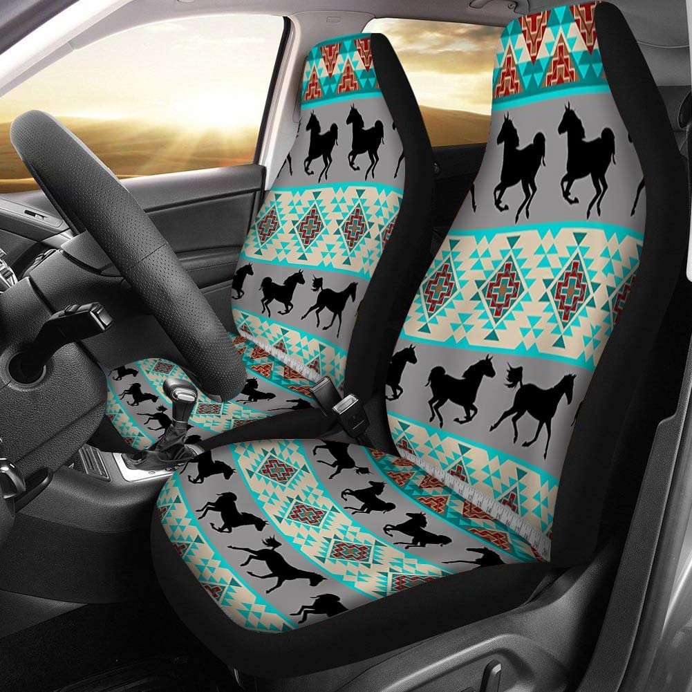 Dreaweet Car Front Seat Covers Tribal Dreamcatcher Printed Women Car Seat Protector Cover Mat Full Set of 2 Fit Most Cars