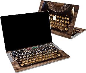 Lex Altern Vinyl Skin for MacBook Air 13 inch Mac Pro 16 15 Retina 12 11 2020 2019 2018 2017 Steampunk Typewriter Vintage Fashioned Wooden Touch Bar Wrap Trackpad Cover Keyboard Decal Sticker Top
