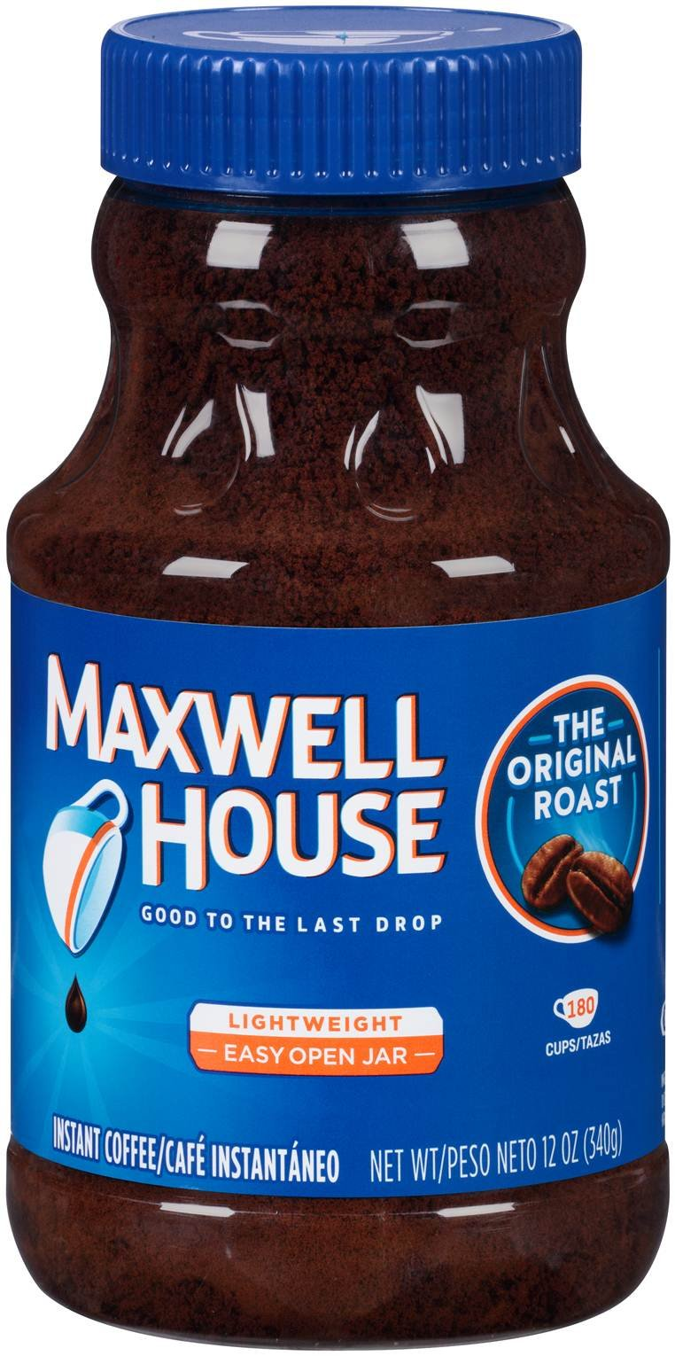 Maxwell House Instant Coffee, 12-Ounce Jars (Pack of 12) by MAXWELL HOUSE