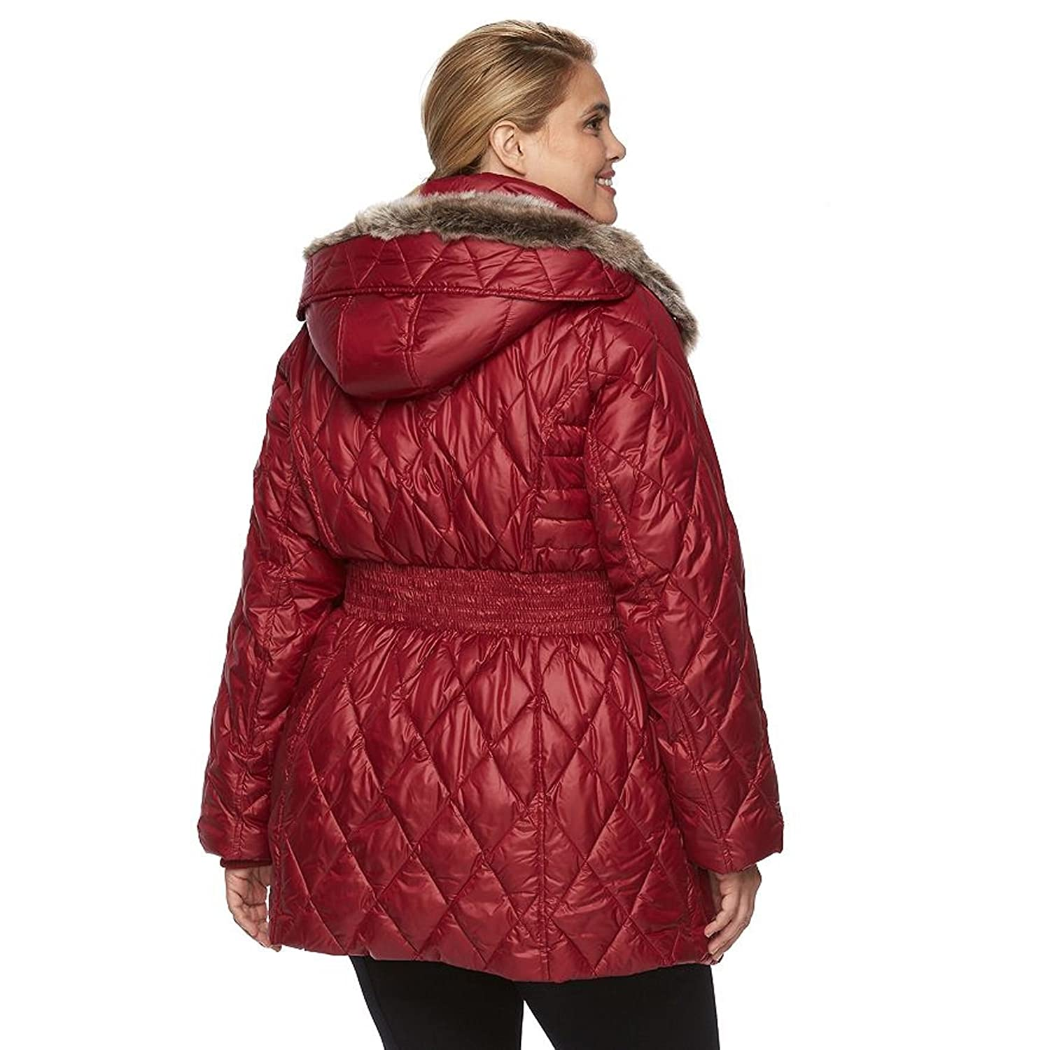13d546b829 Apt 9 Women's Plus Size Hooded Quilted Puffer Jacket (1X, Autumn red) at  Amazon Women's Coats Shop
