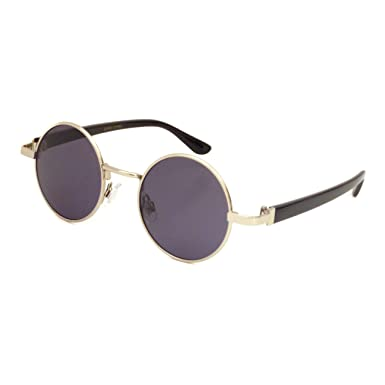 john lennon 1960 style vintage small round metal frame sunglasses silver