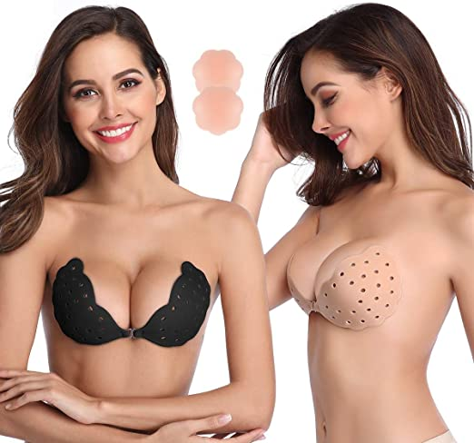 Self-adhesive Silicone Backless Bra Breathable Sticky Strapless Invisible Bra