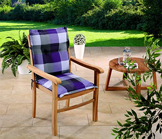Schwar Textilien 3 Colores Coj/ín para Silla con Respaldo Alto dise/ño de Rayas