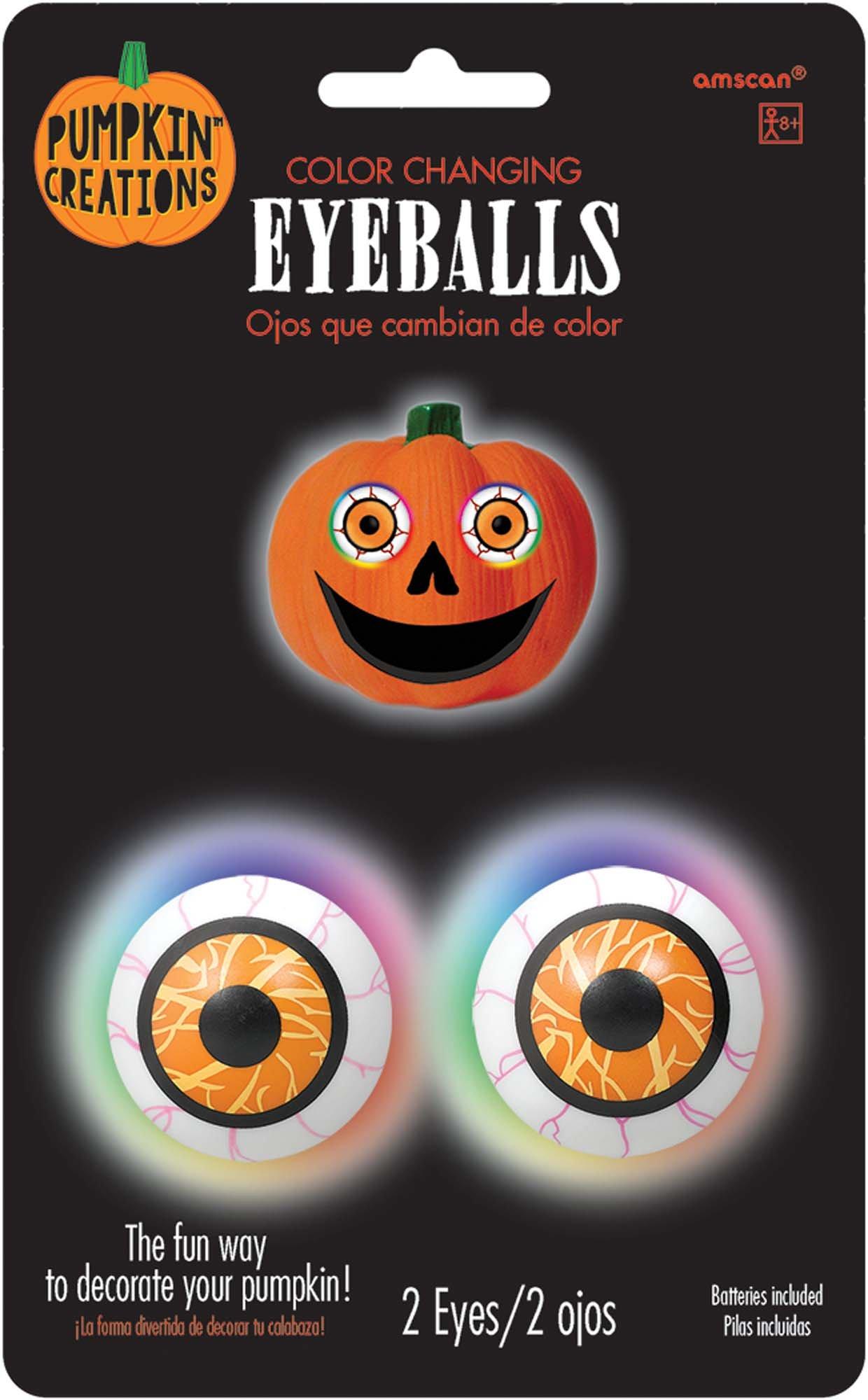 Color Changing Pumpkin Eyeballs Light by amscan