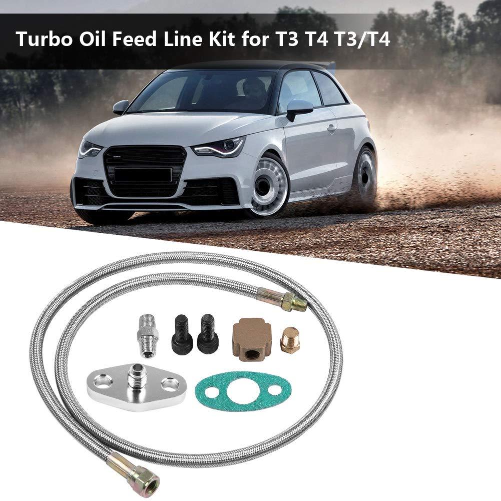Duokon Kit de suministro de kit de línea de alimentación de aceite turbo para T3 T4 T3 / T4: Amazon.es: Coche y moto