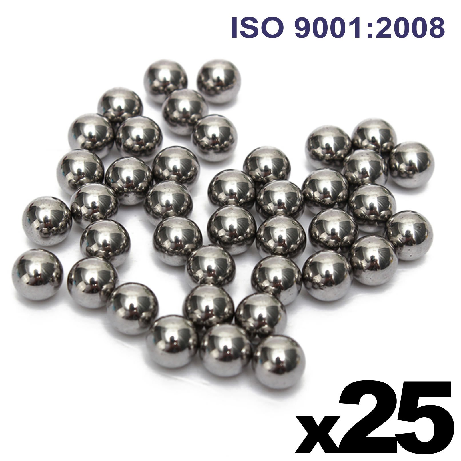 3/4'' Inch (0.75'') Precision Chrome Steel Bearing Balls G25 (25 PCS)