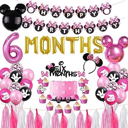 Ship Today,baby Minnie Birthday Party Decoration,Baby Minnie Balloons Birthday Party,baby Minnie Birthday Boy Party,Baby Mickey Favors Party