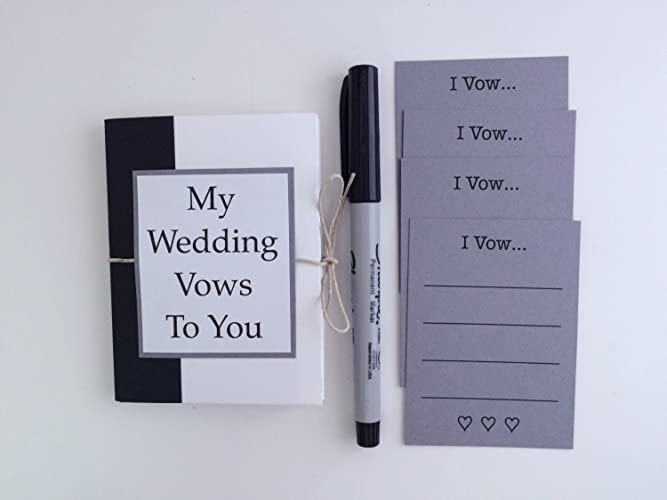 Amazon My Wedding Vows Mini Pocket Book Wedding Day Gift