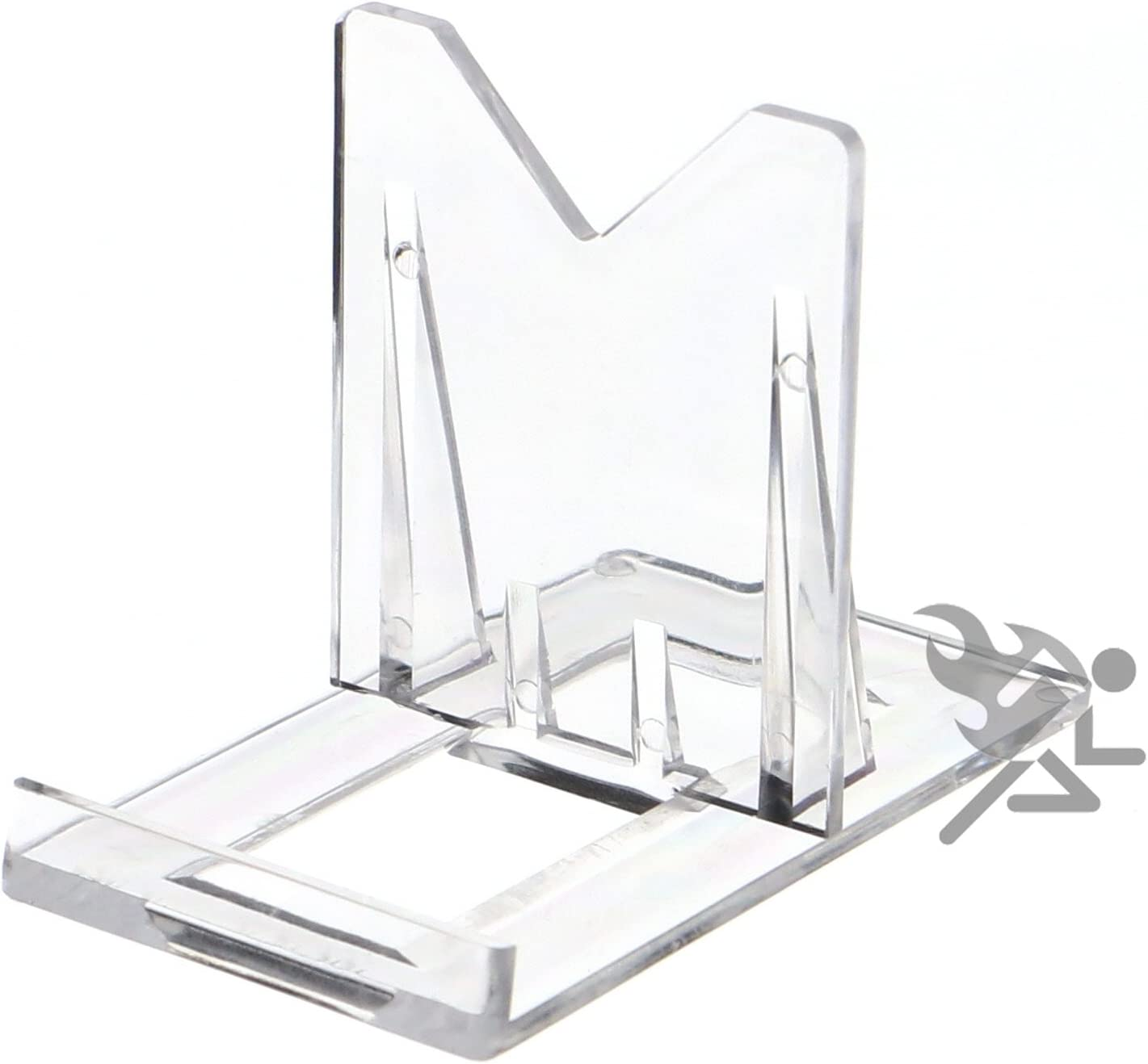 15 Pack OnFireGuy 2 Two Part Adjustable Clear Acrylic Plastic Display Stand Easel for Mineral Fossil Slice Agate Slab Geode Seashell