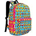 Zicac School Canvas Printed Emoji Backpack