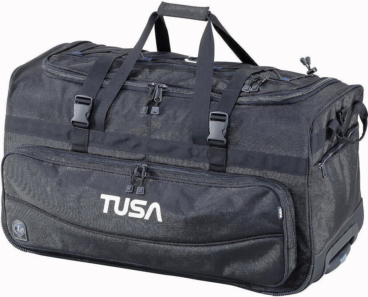 TUSA – Dive Gear Roller Duffle Bag in Black