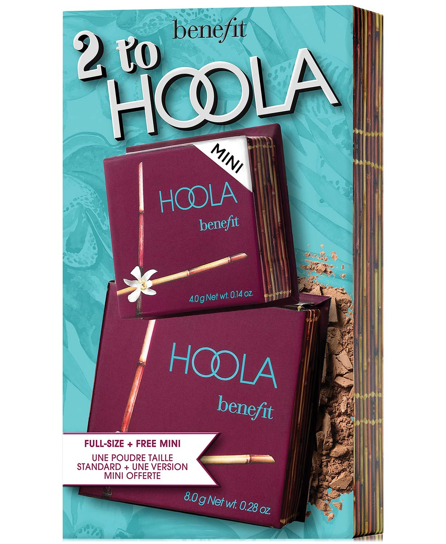Benefit Cosmetics 2 Pc. 2 To Hoola Bronzer Set FULLSIZE & TRAVEL SIZE