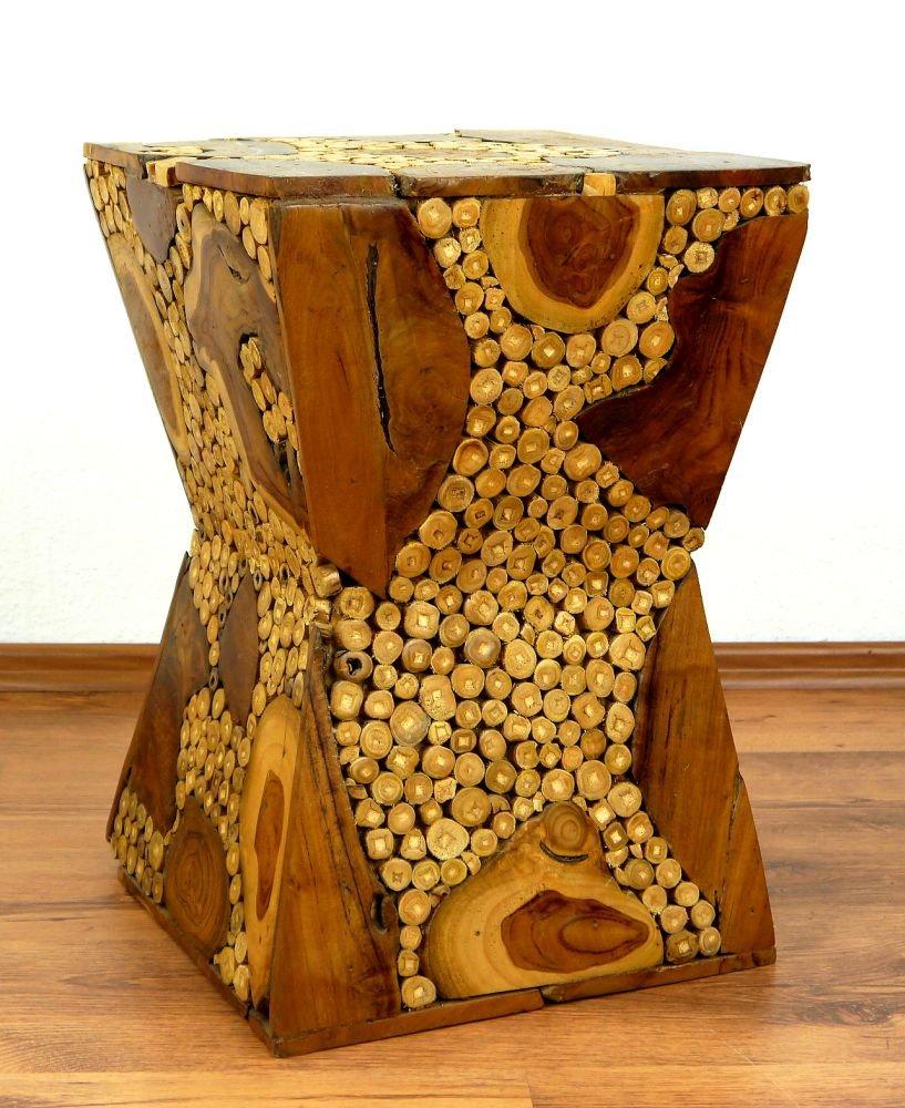 Teakholz Hocker, Podest, Blumenhocker, Blumenhocker, Blumenhocker, Sitzhocker, Handarbeit aus Bali bdd152
