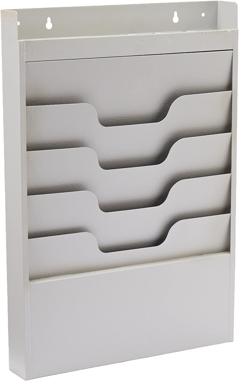 B0006VRMJU Buddy Products Task File Organizer Rack, 4 Pockets, Steel, 2 x 19.75 x 13.5 Inches, Platinum (0841-32) 71eaX4MhK8L