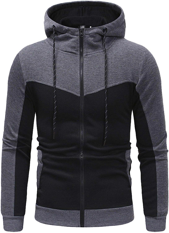 Mens Outdoor Casual Slim Fit Sweatshirt Hoodies Top,Dark Gray Top,XL