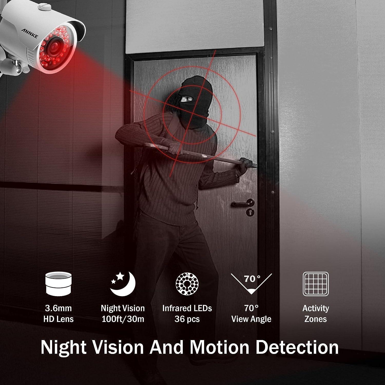[1280*960P HD]ANNKE Kit Sistema de vigilancia wifi inalámcrica 4CH NVR 1080P y 4 Cámaras de Vigilancia 960P IP66 Impermeable -NO HDD: Amazon.es: Electrónica