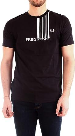 Fred Perry Black T-Shirt M7601-102-XL: Amazon.es: Ropa y accesorios