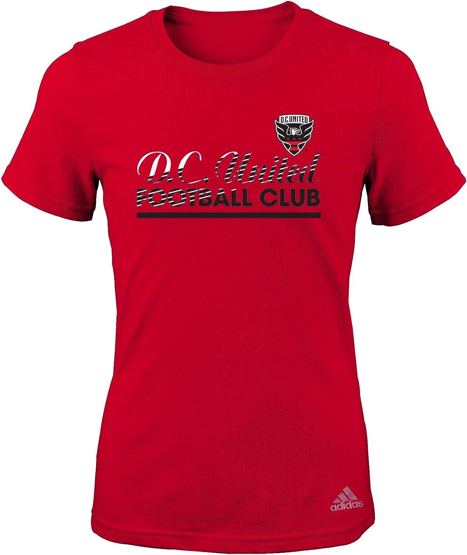 MLS Girls 7-16 Slant Line Repeat Short Sleeve Tee