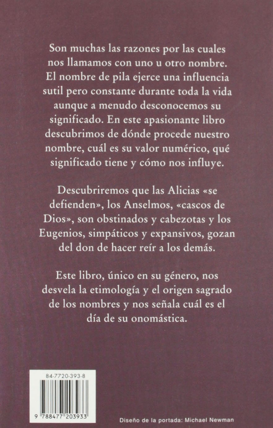 Amazon.com: Libro De Los Nombres / The book of the Names (Spanish Edition) (9788477203933): Obelisco: Books