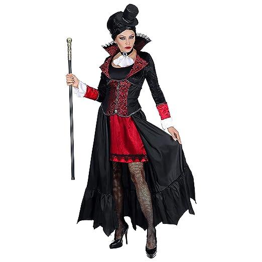 Costume Carnevale Donna Da Vampiressa Vampiro Vestito Halloween Dracula Adulto