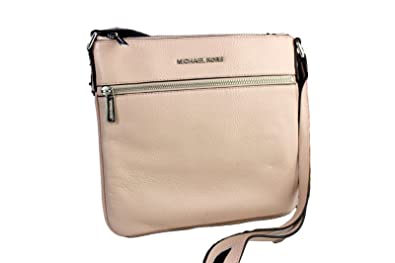 4a66c66d8c3270 Image Unavailable. Image not available for. Color: Michael Kors Bedford  Leather Crossbody - Ballet Pink