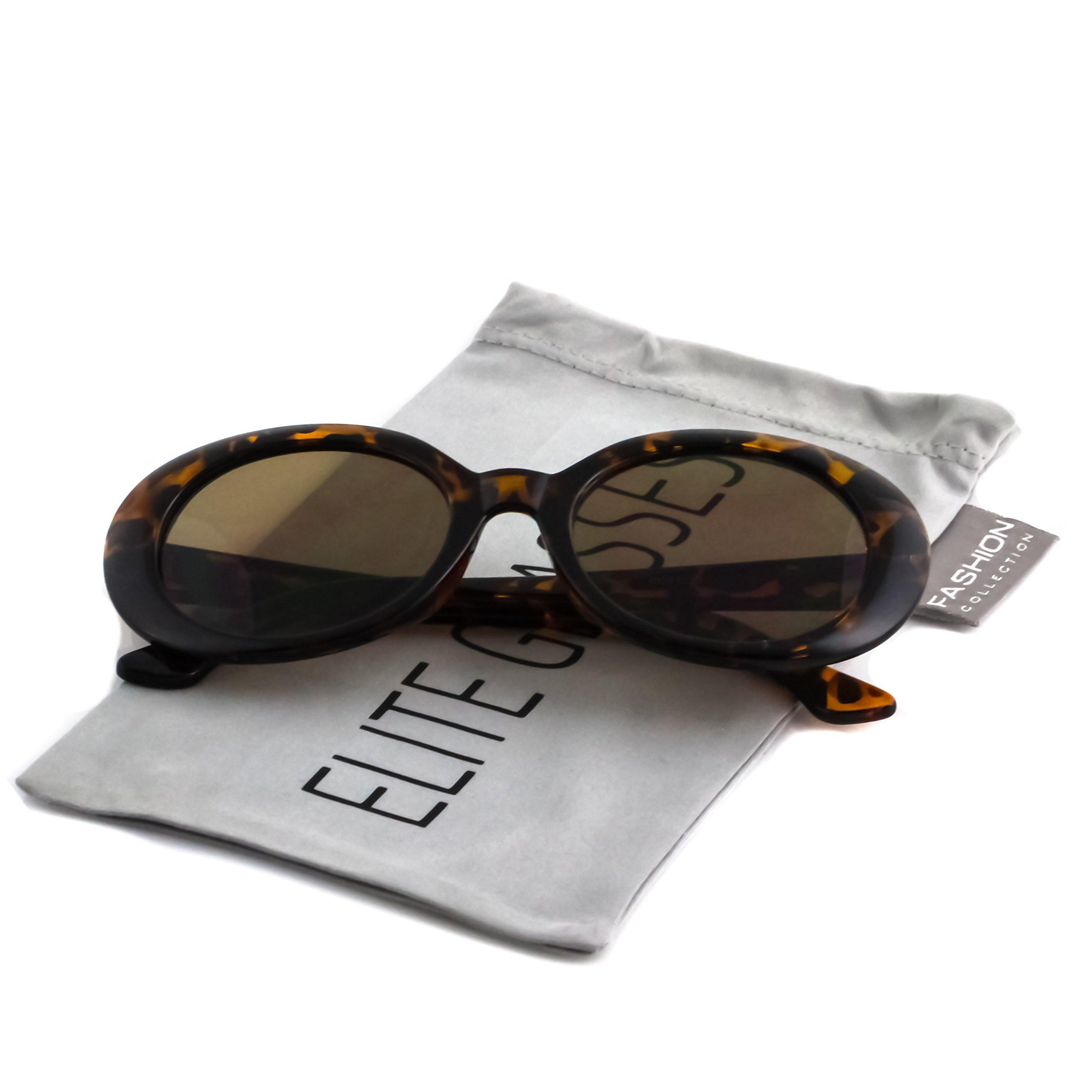 de66a649ce Galleon - Clout Goggles Oval Mod Retro Thick Frame Rapper Hypebeast Eyewear  Supreme Glasses Cool Sunglasses