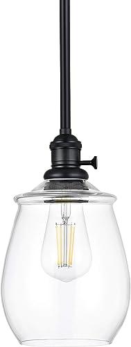 Arenza Farmhouse Hanging Pendant Light Black Pendant Lighting for Kitchen Island LL-P636-5BLK